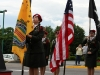 The Vietnam Veterans of America Flag is posted
