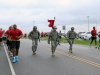 "Soldiers with the 584th Support Maintenance Company, 129th Combat Sustainment Support Battalion, 101st Sustainment Brigade ""Lifeliner"", 101st Airborne Division (Air Assault), conduct a 6-mile ruck-march during ""Wedge Challenge"" April 25, 2014 at Fort Campbell, Ky. The ""Wedge Challenge"" was made up of unit leadership to demonstrate to the junior Soldiers the air assault capabilities. This friendly competition also included a packing list layout, sling load operations, an obstacle course and tug of war. (U.S. Army photo by Sgt. 1st Class Mary Rose Mittlesteadt, 101st Sustainment Brigade Public Affairs)"