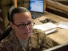 Spc. Jennifer Benevente, D Troop, 2nd Squadron, 17th Cavalry avionics repair specialist reviews wiring schematics for a helicopter in order to determine the best way to test for electrical issues at Forward Operating Base Fenty, Afghanistan Dec. 6. (U.S. Army photo by Sgt. Duncan Brennan, 101st CAB public affairs)