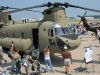 A exterior view of a Chinook helicopter