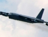 A B-52 Bomber does a series of flyovers