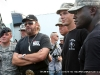 Hank Williams Jr. speaks to the press as members of the 101st Airborne Division look on at the Salute the Troops Concert at Fort Campbell, Ky
