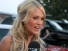 Carrie Underwood speaks with the media at the Salute the Troops Concert at Fort Campbell, KY
