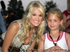 Carrie Underwood visits with fans at the Salute to the Troops Concert at Fort Campbell KY