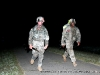 The second group of soldiers to reach the turn around point for the 12 mile Ruck march at the Toughest Air Assault Soldier Competition