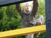 Going up the Confidence climb at the Toughest Air Assault Soldier Competition