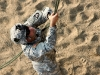 The belayer is ready for his next customer at the Toughest Air Assault Soldier Competition
