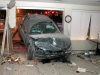 99 Acura that ran into a building on Riverside Drive. (Photo by CPD-Jim Knoll)