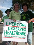 Green Party support of strike
