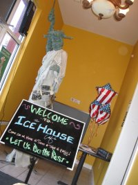 Lady Liberty by Debbie Boen, at the Ice House Cafe.