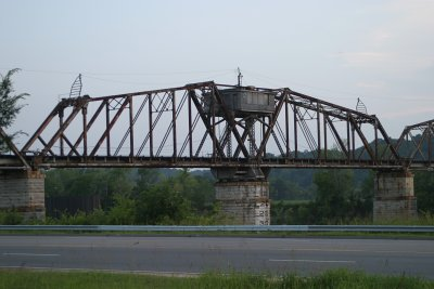 The R.J. Corman Railroad Bridge which crosses Riverside Drive in Clarksville, TN