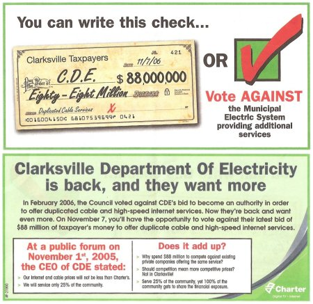Misleading Charter Communications Flier on the CDE Referendum