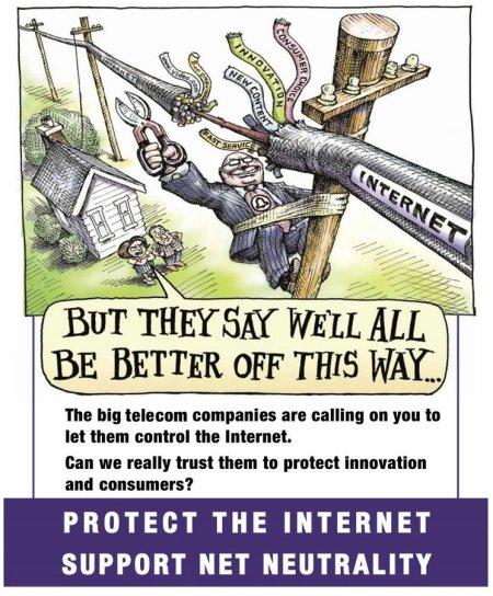 A Net Neutrality cartoon by Matt Wuerker