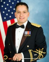 Commander of the 91st Division Army Reserve Band, CWO2 Richard Servantez