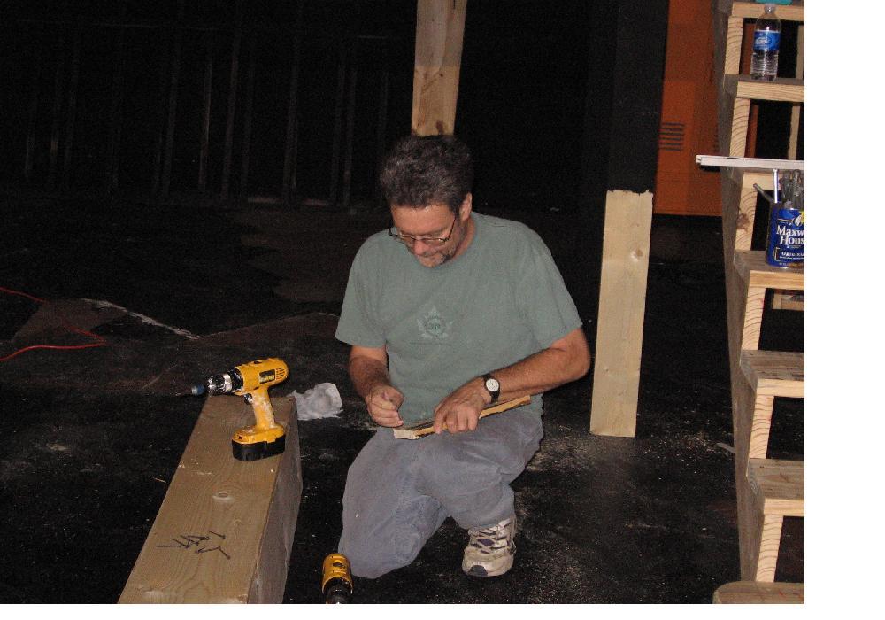 David Boen making set