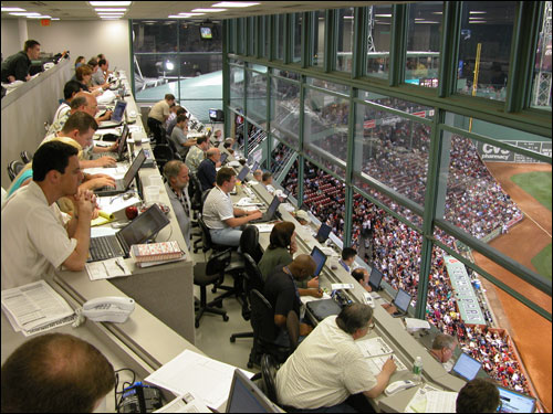 The view from the press box, which is nearly full on most days. Boston.com Photo / David Ropeik