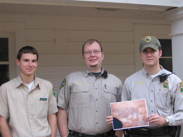 Nathan Smith, David Britton & Ranger Adam Neblett