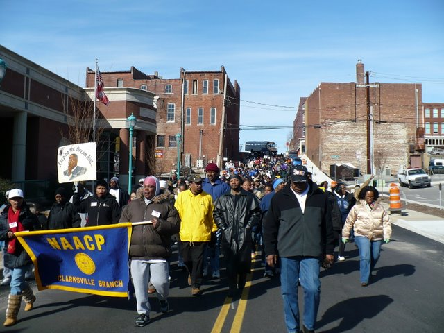 The marchers in the 2008 NAACP Rev. Martin Luther King, JR. march