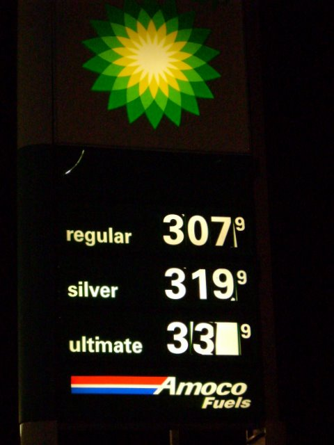 Gas at $3.07
