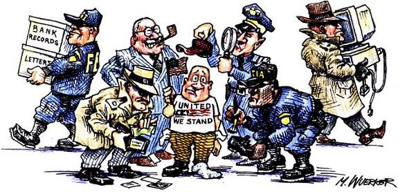 Homeland Secured a Cartoon by Matt Wuerker