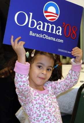 The youngest Obama Supporter