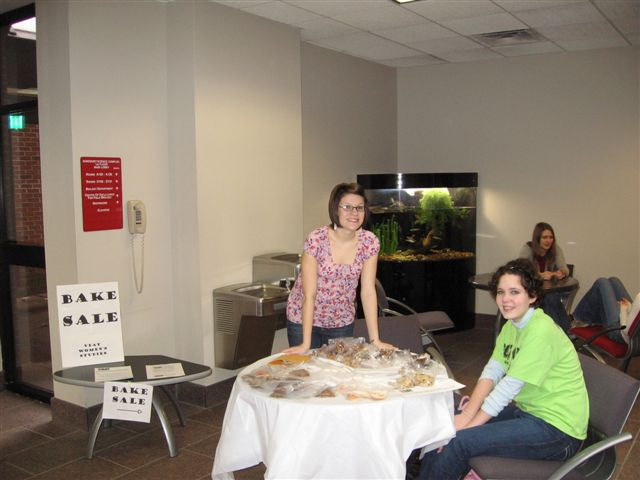 Sam and Holly start the bake sale that also raises money