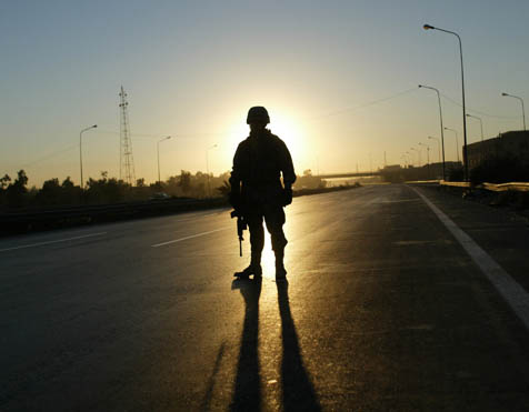 A soldier in Iraq