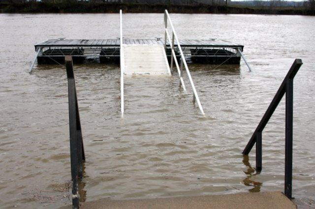 Fairgrounds boat docks ramps under water
