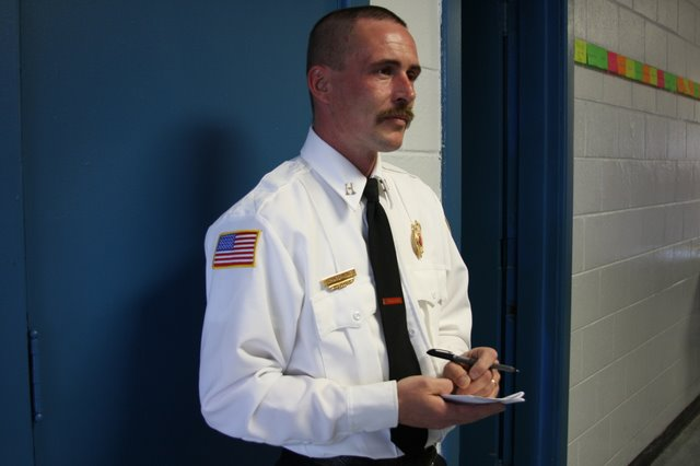 Captain Richard Moler a Inspector for Clarksville Fire Rescue Prevention, talleys the lucky 180