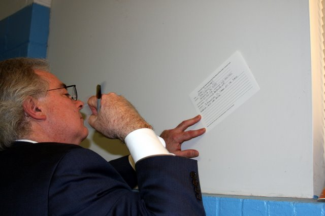 John Summers fills out his comments card