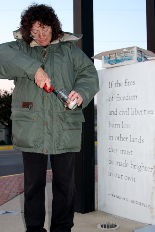 Debbie Boen of the Clarksville Freethinkers for Peace and Civil Liberties; helping the fires of freedom to burn brighter in our land