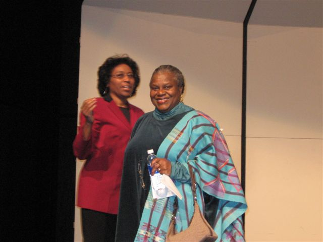 Gail Robinson-Oturu with Dr. Reagon