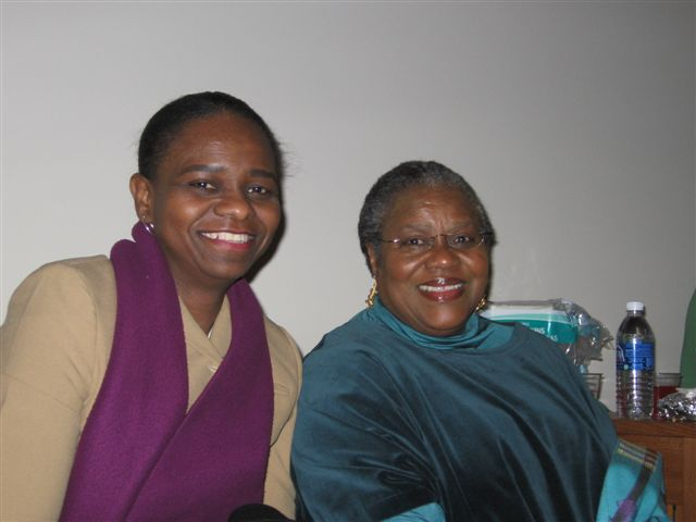 Wanda McMoore and Dr. Bernice Johnson Reagon