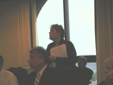 Rita Arncibia, Community & Economic Development addresses the council.