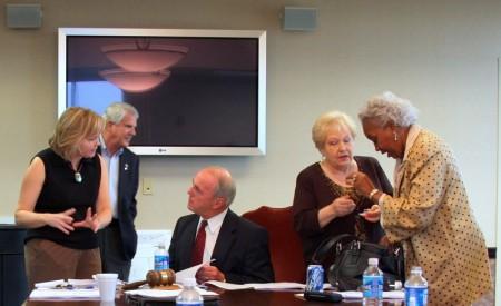 MacLaughlin, Grubbs, Mayor Pper, Diane Ward and Mayor Pro tem Barbara Johnson