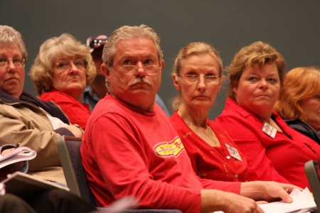 Members of the CPRC at a city council meeting