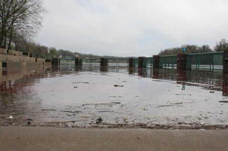 The recently flooded terrace at McGregor Park
