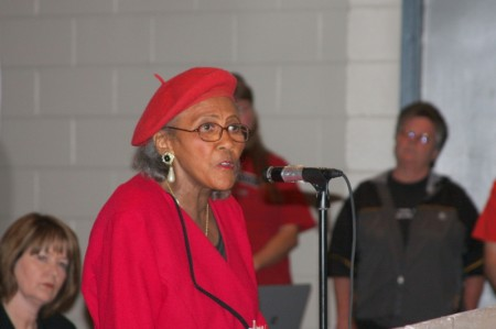 Mrs. Virginia Hatcher, presient local chapter Comission On Religion and Racism (CORR)