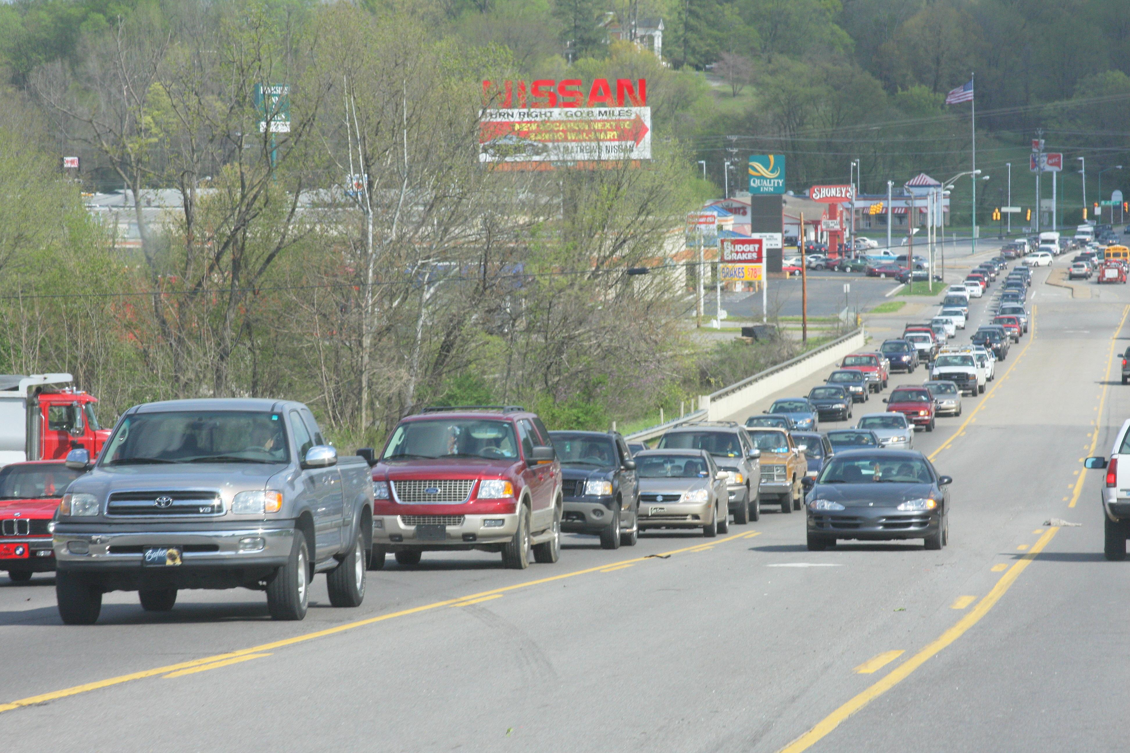 Rush hour traffic on Providence BLVD  - Clarksville, TN Online