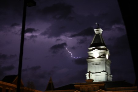 Storm rages around County court house