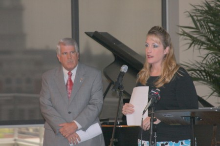 City Council members Geno Grubbs and Deanna McLaughlin