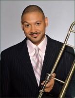 Delfeayo Marsalis with his trombone