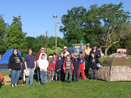 Boy Scout Troop 509 camping at Billy Dunlop Park