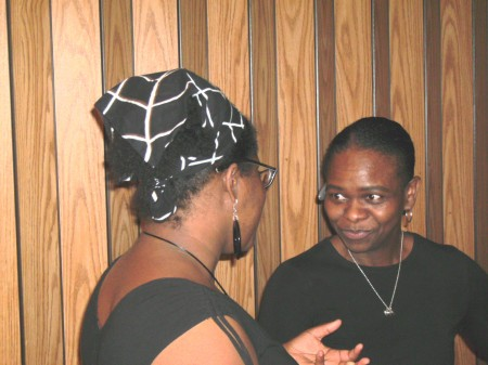 Elandria Williams chats with Wanda McMoore