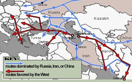 What\'s most important is who controls the major pipelines in the Caspian Sea region