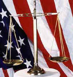 U. S. Flag & Scales of Justice