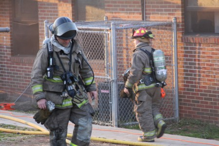 Clarksville firefighters swap out at a structure fire in Lincoln Home