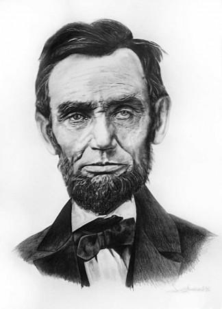 Portrait of Abraham Lincoln ( 17 X 23, 2006)