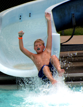 The Swan Lake Pool Slide