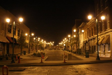 Legion Street at night